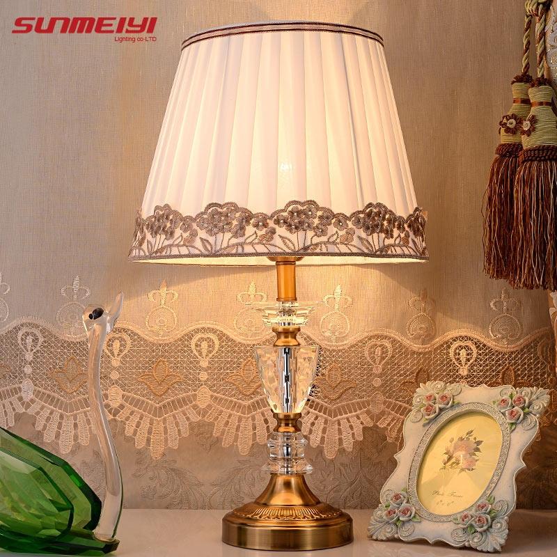 moderne kristallen tafellamp abajur de mesa lamparas europa korte - Binnenverlichting