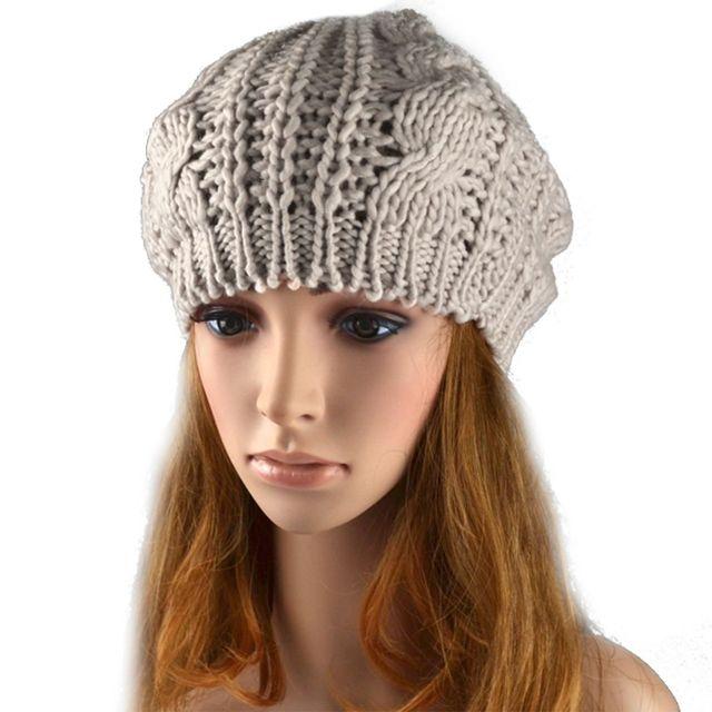 Neue Mode Winter Frauen Warm Knit Hut Beret Geflochtene Baggy Beanie ...