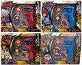 5 упак./лот Новый Супер Металл + ABS Топ Beyblade, Волчки Игрушки С Четырьмя цвет Beyblade С Пусковой Установки, коробка цвета