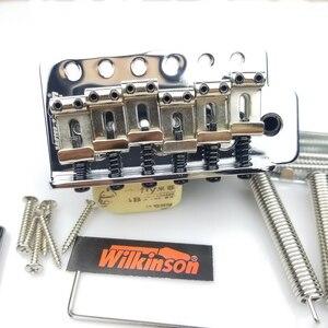 Image 2 - جيتار كهربائي من نوع ST بتصميم كلاسيكي من ويلكنسون مع نظام تريمولو ، جيتار من الكروم الفضي لجيتار سترات WOV01