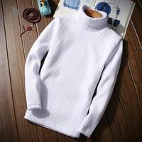 ZEESHANT Winter Thick Warm Sweater Men Turtleneck Brand Mens Sweaters Slim Fit Pullover Men Knitwear Double