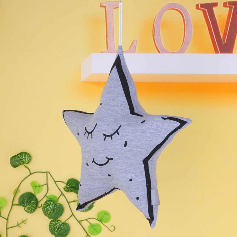 Подушка детская Милая луна Ночная Звезда Мягкие подушки Серый