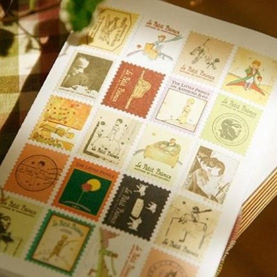 4Pcs/Pack Retro Little Prince Vintage Folding Stamps Stickers DIY Paper Decorative  Europe Style  H0117