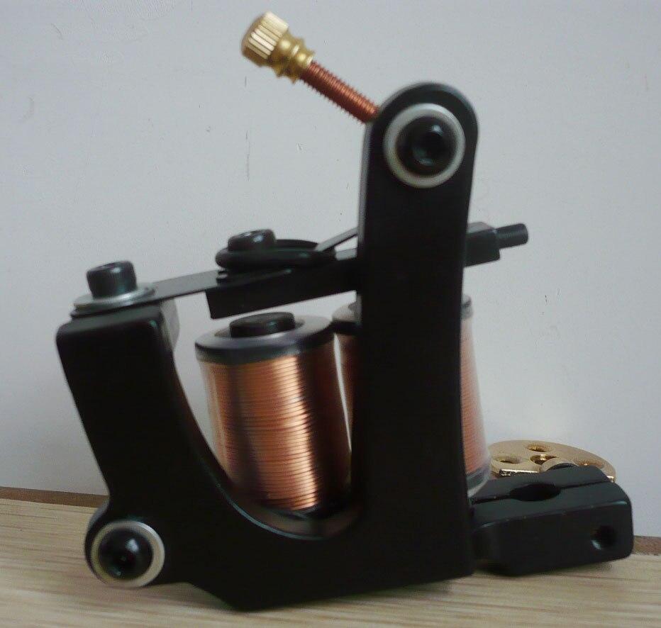 10Pcs lot Pro Casting Iron Tattoo Machine 10 Wraps coil stainless steel Tattoos Body Art Gun