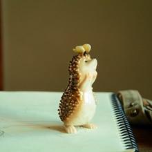 Lovely Fairy Garden Miniatures Resin Hedgehog  Figurine for Adults Child Office Decoration Desk ornament