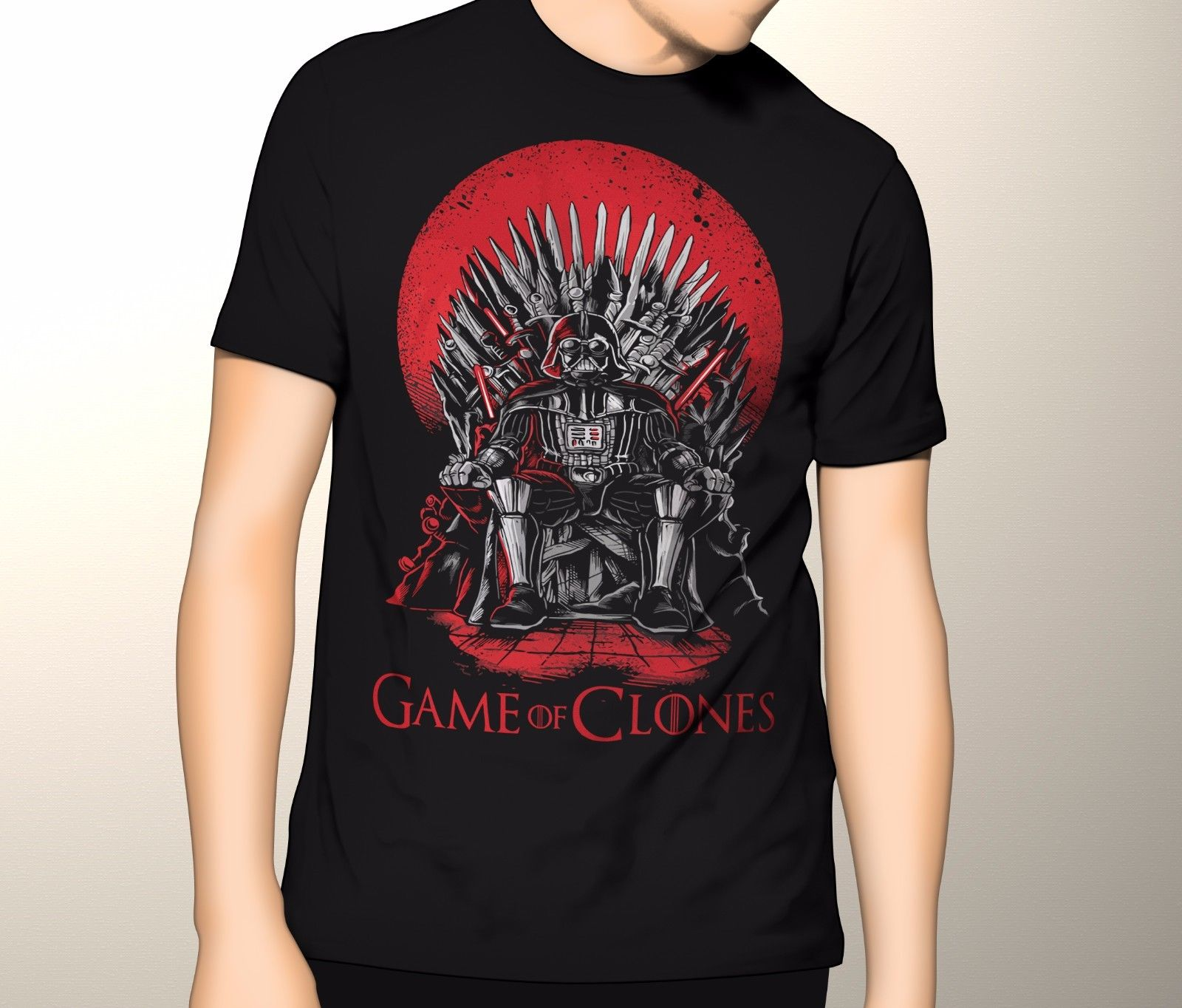 Game of Thrones Shirt, Star Wars and Game of Thrones, Game of Clones S-5XL T Shits Printing Short Sleeve Short Sleeve Tops