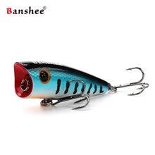 Banshee 60mm 8g sıçrama makinesi VP01 çıngırak ses sert yapay yem Wobbler topwater balıkçılık cazibesi Popper