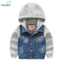 Children Clothes Jacket 2016 Autumn New Denim Boys Hooded Jean Jackets Fashion Kids Clothing Coat Casual Outerwear T660