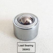 2PCS Heavy duty load bearing 260KG universal ball cylinder universal ball bearing cattle eye ball JF1499