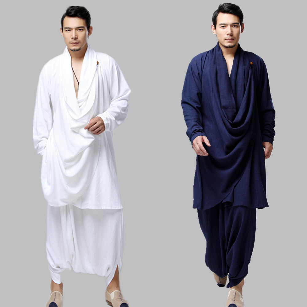 Chinese style Clothing Men cotton Linen Big Crotch Pants