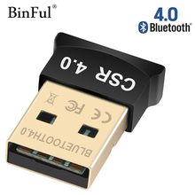BinFul мини USB Bluetooth адаптер V4.0 CSR двойной режим Bluetooth Dongle 4,0 передатчик для Windows 10, 8, Win 7/Vista/XP 32/64Bit