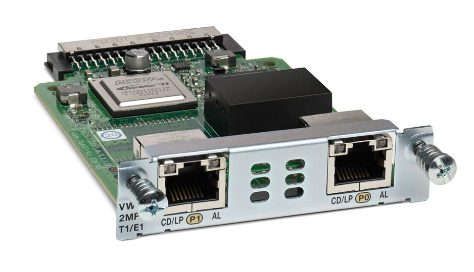 Cisco VWIC2-2MFT-T1//E1 2-Port T1//E1 Multiflex Trunk Voice//WAN Interface Card