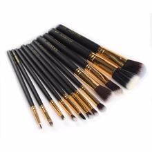 Professional 12Pcs Makeup Brush Set Foundation Cosmetic Powder Multifunction Toiletry Brushes Make Up Brushing Kits Bag pro 9 pcs makeup brushes set tools make up toiletry kit wool puff foundation powder case cosmetic foundation brush