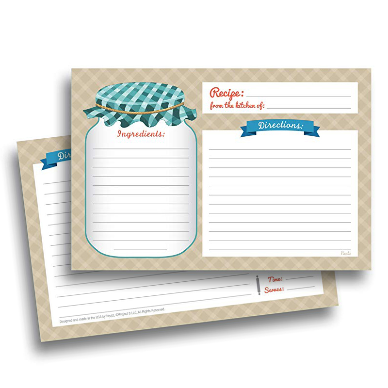 20sheet Kitchen Recipe Cards Double Sided Cards 4x5.6 Inch Cardstock Paper Stationery For Home Kitchen Invitation Cards