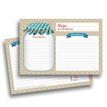 Tarjetas de recetas de cocina, 20 hojas, doble cara, 4x5,6 pulgadas, papel cartulina, papelería para el hogar, tarjetas de invitación de cocina