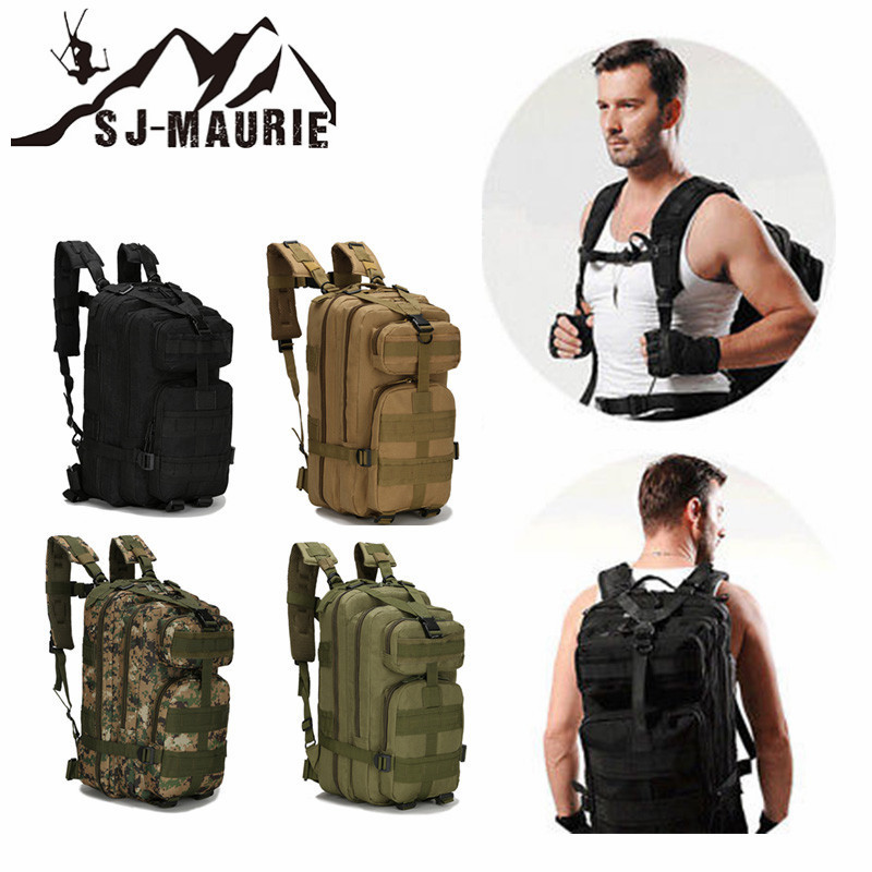 30L Nylon Waterproof Tactical Backpack Combat Bag Outdoor Military Backpack for Camping Hiking Fishing Hunting 30l waterproof dry bag backpack laptop bag roll top for outdoor trekking hiking water sports kayaking camping fishing boating