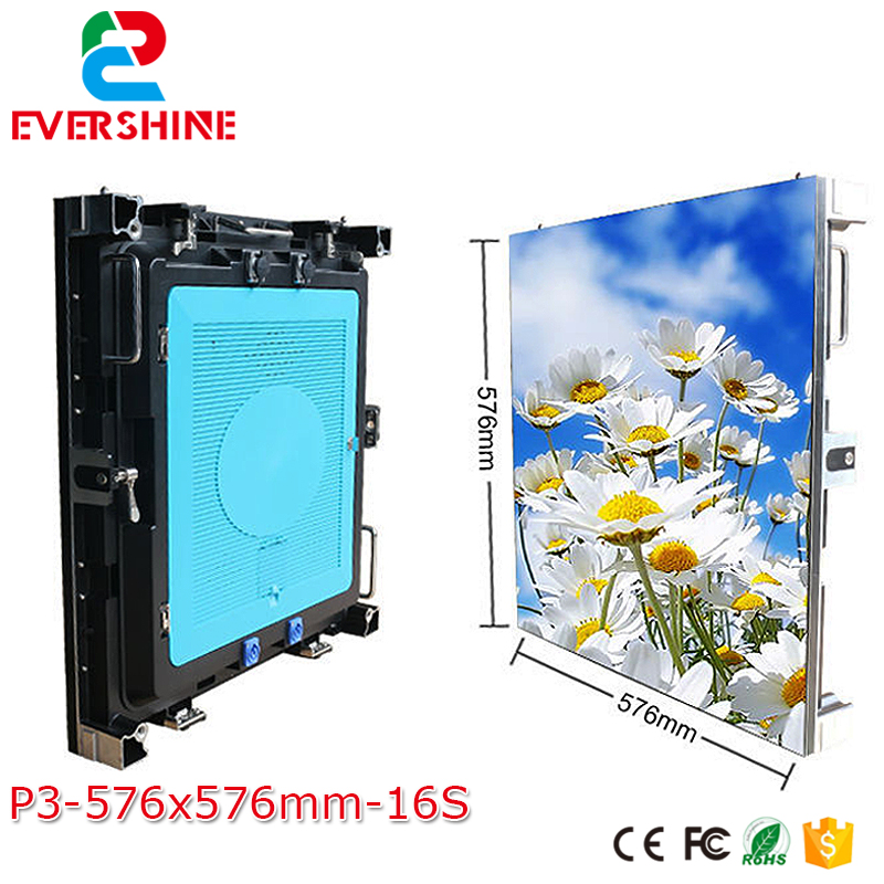 HD Full Color Indoor Rental P3 LED Display 576*576mm LED Video Wall