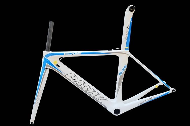 PASAK S3 5 full carbon fiber bike/bicycle frame UD t800 white color frame 48/51/54/56/58cm+bbright+front fork glossy/matte