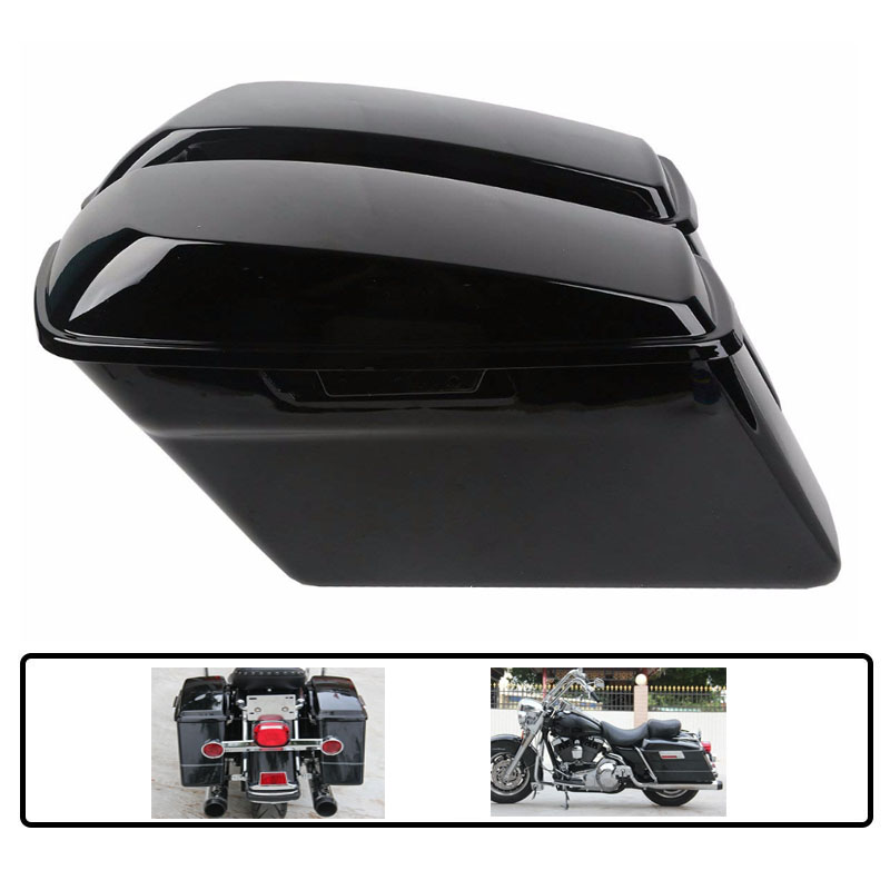 Vivid Black Hard Saddlebags Side Bag For Harley Touring Road King Road Street Glide FLT FLHT FLHTCU 2014 -2018 2015 2016 2017