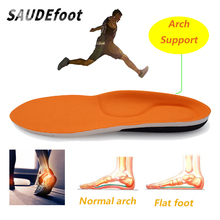 Saudefoot Shock Absorption Sport Shoes Insoles Arch Support High Elasticity Foot Pads Memory Foam Sneaker Insert for Unisex