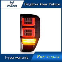 New Style Tail Lamp for Ford Ranger LED Tail Lights 2012 2013 2014 2015 2016 2017 2018 Smoked Rear Lamp Brake Plug and Play