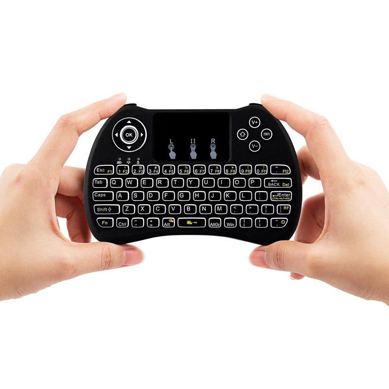 Prix pour Livraison DHL 2.4G Mini Clavier De Poche Sans Fil H9 Fly Air Souris Avec Rétro-Éclairage Touchpad pour PC Smart TV BOX