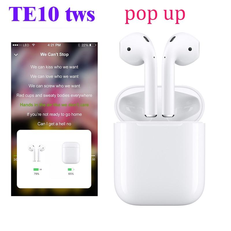 2019 Original ZT TE10 TWS 1:1 air mini sans fil Bluetooth 5.0 3D basses oreille téléphones PK W1 puce I21 i20 tws LK TE8 TE9 XY oreille pods