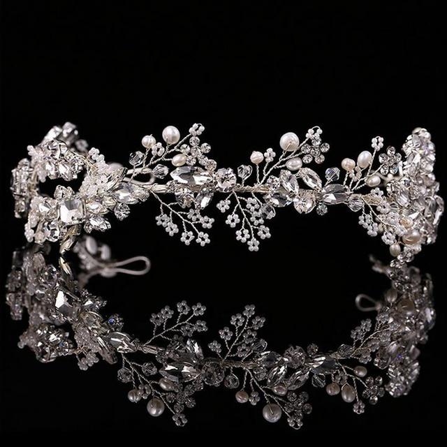 baroque crown goldsilver handmade rhinestone headband vintage bridal hair accessories headwear accessories crown and tiara