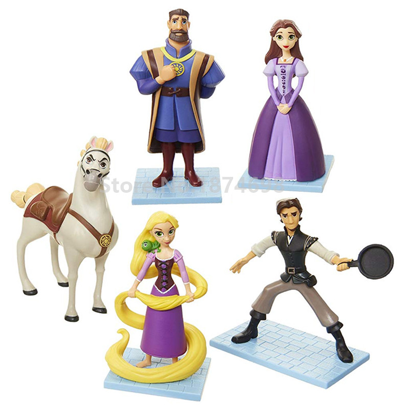 New Tangled The Series Adventure Figurine Set Princess With Pascal Maximus Prince Flynn Rider Figure Doll 5pcs Kids Toys Gifts Action Toy Figures Aliexpress