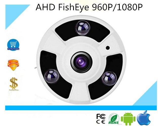 bilder für Luckertech Sichere 1.3MP 2MP Panorama Kamera Fisheye-objektiv 360 Grad Ansicht 960 P 1080 P AHD Kamera IR 30 mt Überwachungskamera Metall
