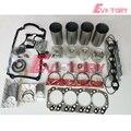 For D-max engine repair kit 4JH1 4JH1T 4JH1-TC piston +piston ring+ cylinder liner +full gasket kit +main/con rod bearing
