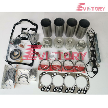 For D-max engine repair kit 4JH1 4JH1T 4JH1-TC piston +piston ring+  cylinder liner +full gasket kit +main/con rod bearing