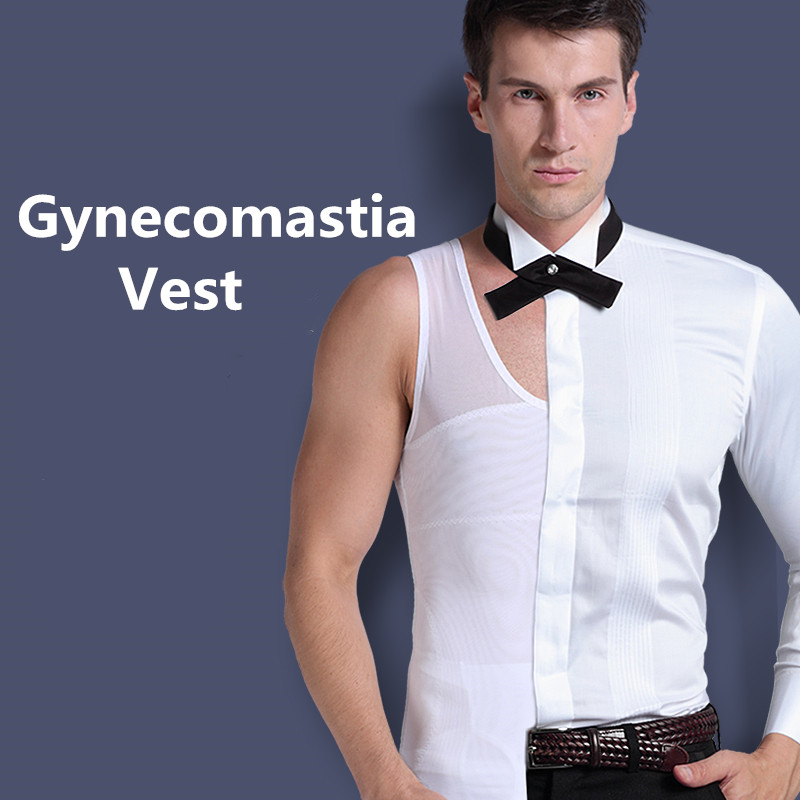 Mens Gynecomastia Vest Chest Binder Posture Corset Male Abdomen Trainer Belly Reduce...