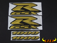 Motorcycle 3D GSXR Stickers Decorated Decals Sticker Case For Suzuki GSXR600 GSXR750 GSXR1000