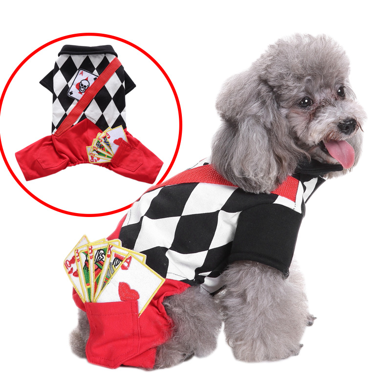 Funny Pet Costume Magician Suit For Cat Dog Halloween Christmas Cotton Sweater Pet Autumn Winter Coat Clothes for Dogs