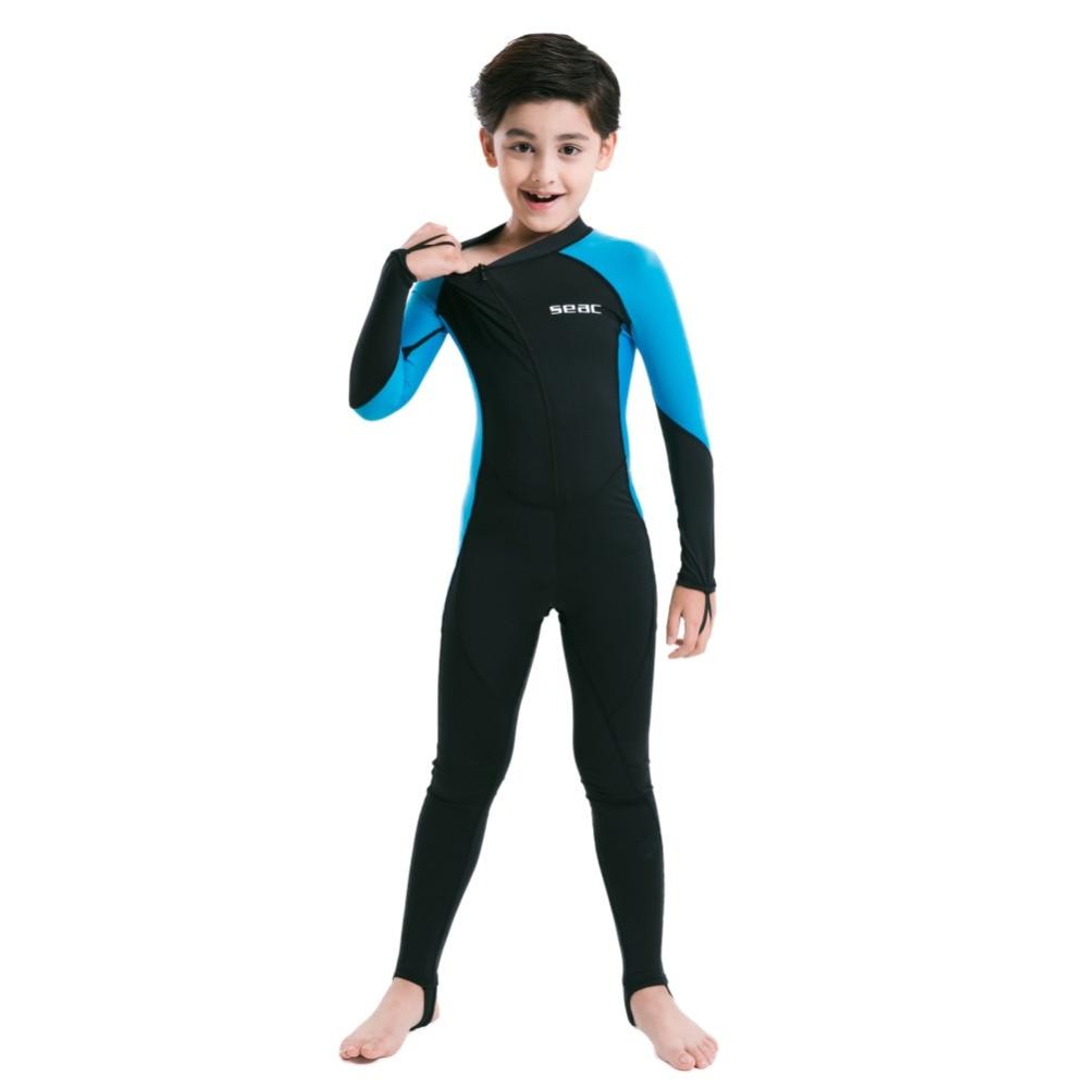 Children Wetsuits Rash Guards Girl Boy Couple Full Body Swim Dive Sportswear Suits Long Sleeve Long Pants Swimsuit Diving Suit