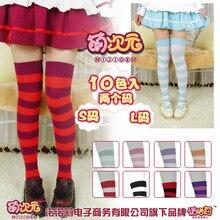NIJIGEN Dễ Thương Nữ Lolita Quá Đầu Gối Rộng 100% Mặt Vớ Cotton Đùi Cao Cấp Anime Cosplay 10 Màu