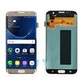 De oro para samsung galaxy s7 edge g935 g935a g935f ta FD P V LCD Display + Touch Screen Asamblea Del Digitizador Envío Libre + Número de pista