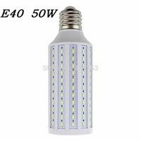 High brightness 50W LED bulb E40 LED Light 165 LEDs 5730 SMD LED Corn Lamp AC110/220V Warm White Cool White free shipping 1pcs