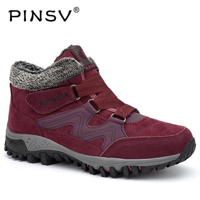 Зимние сапоги женская обувь ботильоны на платформе для женский, черный теплые зимние ботинки с плюшевым утеплителем дамские размеры 35–40 PINSV