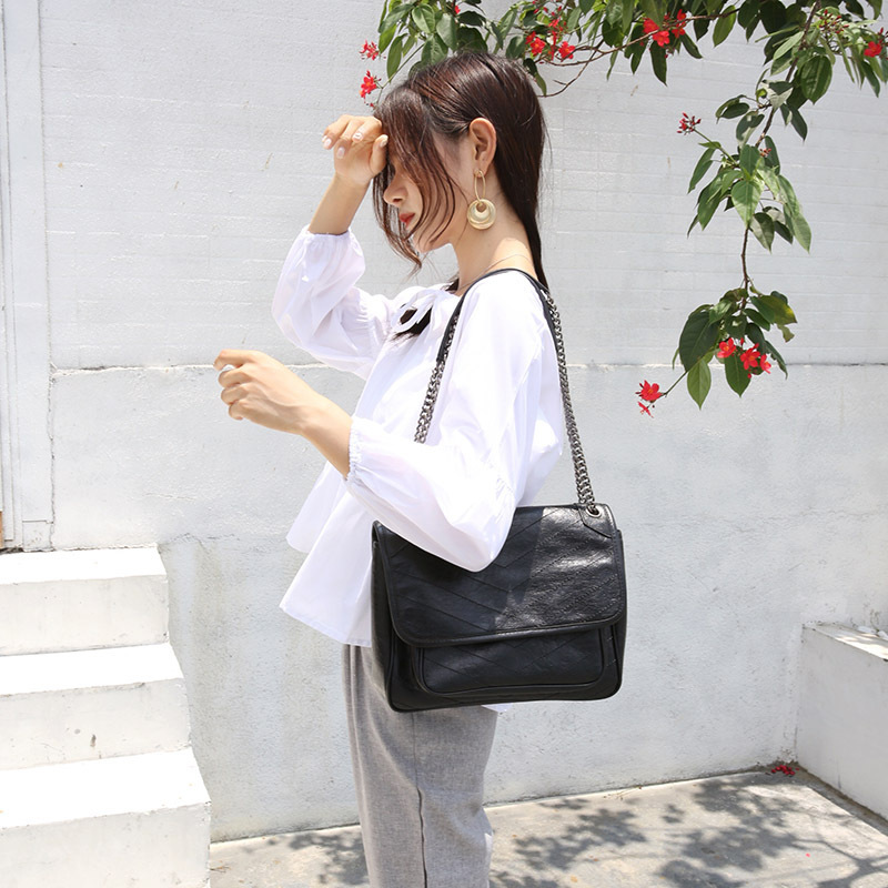 Chain Genuine Leather Woman Package Will Capacity Single ShoulderChain Genuine Leather Woman Package Will Capacity Single Shoulder