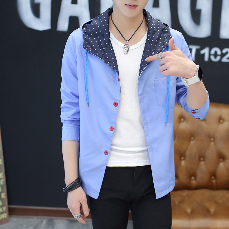 Spring and autumn thin jacket Korean version of the self-cultivation baseball uniform tide men's clothing youth student jacket b