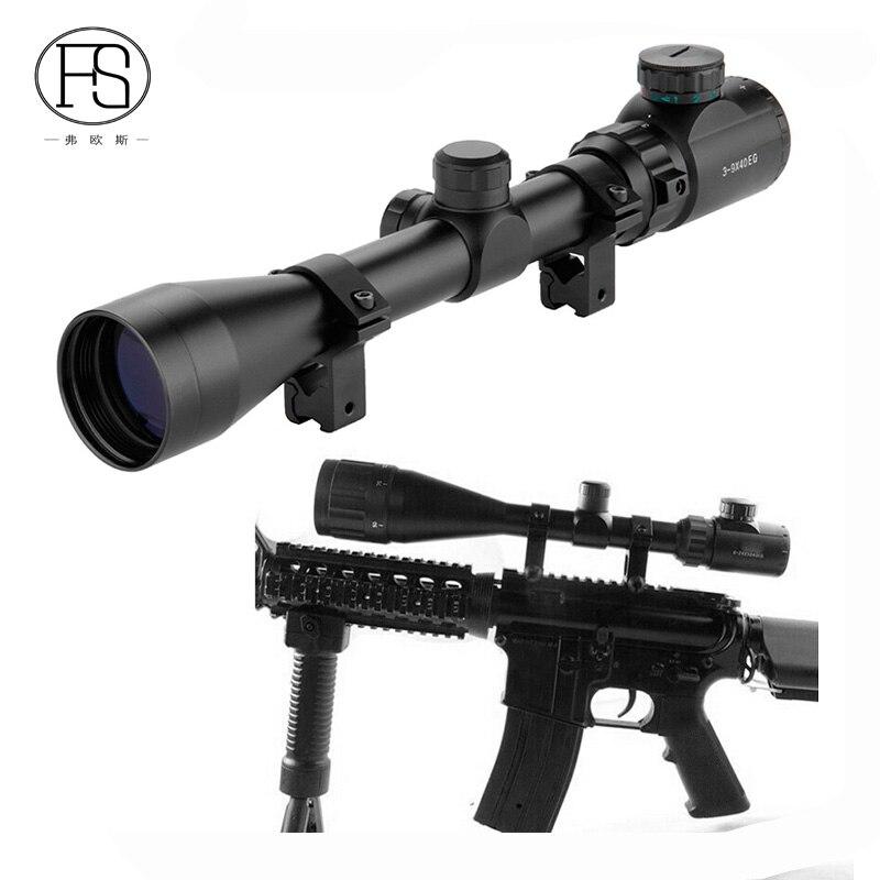 Adjustable Tactical Riflescope 3-9x40 Rifle Scope Outdoor Reticle Sight Optics Sniper Deer Tactical Hunting Scopes 11/20mm Rail hunting 3 9x40 optics illuminated tactical rifle scope