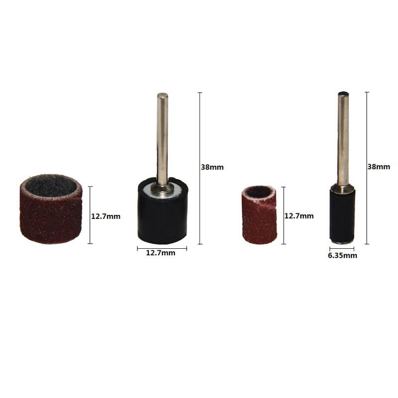 102vnt šlifavimo juostos rankovės ir būgnų rinkinys 3,2 mm - Abrazyviniai įrankiai - Nuotrauka 3