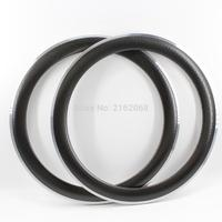 2Pcs Newest 700C Dimpled 60mm Clincher Rim Road Bike Matt UD Carbon Bicycle Moonscape Wheels Rims