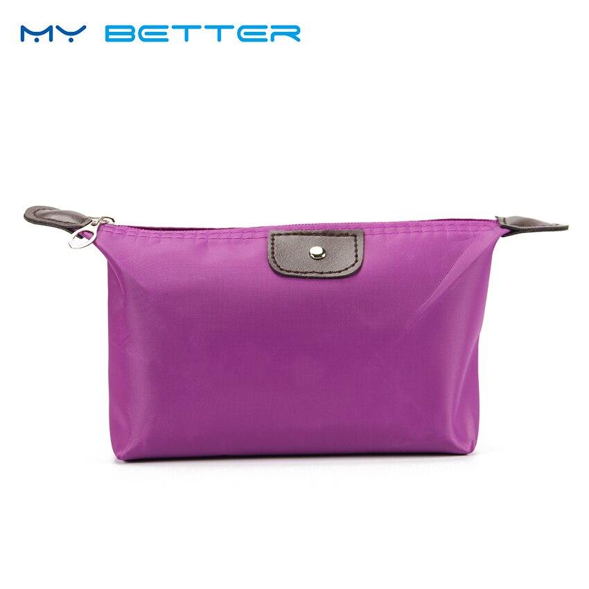 Maquillaje bolso cosmético de la mujer bolsas organizador caja señoras bolso de viaje de Nylon bolsas de almacenamiento de la bolsa