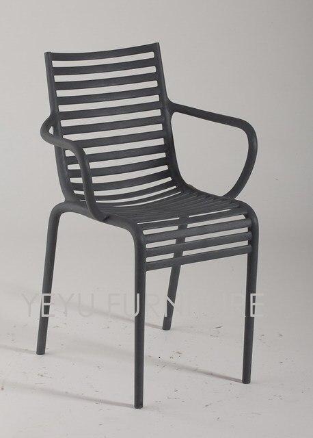 Minimalista diseño moderno comedor plástico Muebles comedor silla ...