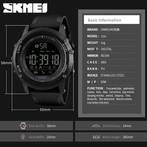 Image 5 - SKMEI Bluetooth גברים חכם ספורט שעון 5Bar עמיד למים גברים דיגיטלי שעוני יד מד צעדים קלוריות כושר reloj hombre 1321