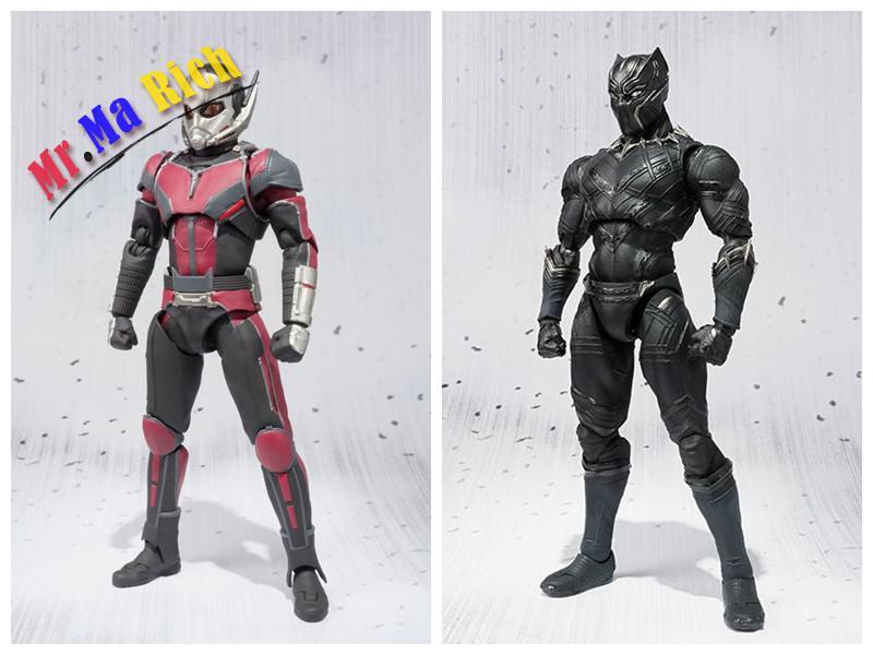 Captain America Guerra Civile Ant Uomo Black Panther Action Pvc Figure Model Toy 16 Cm игрушка anti petank 2 игрока ant 16