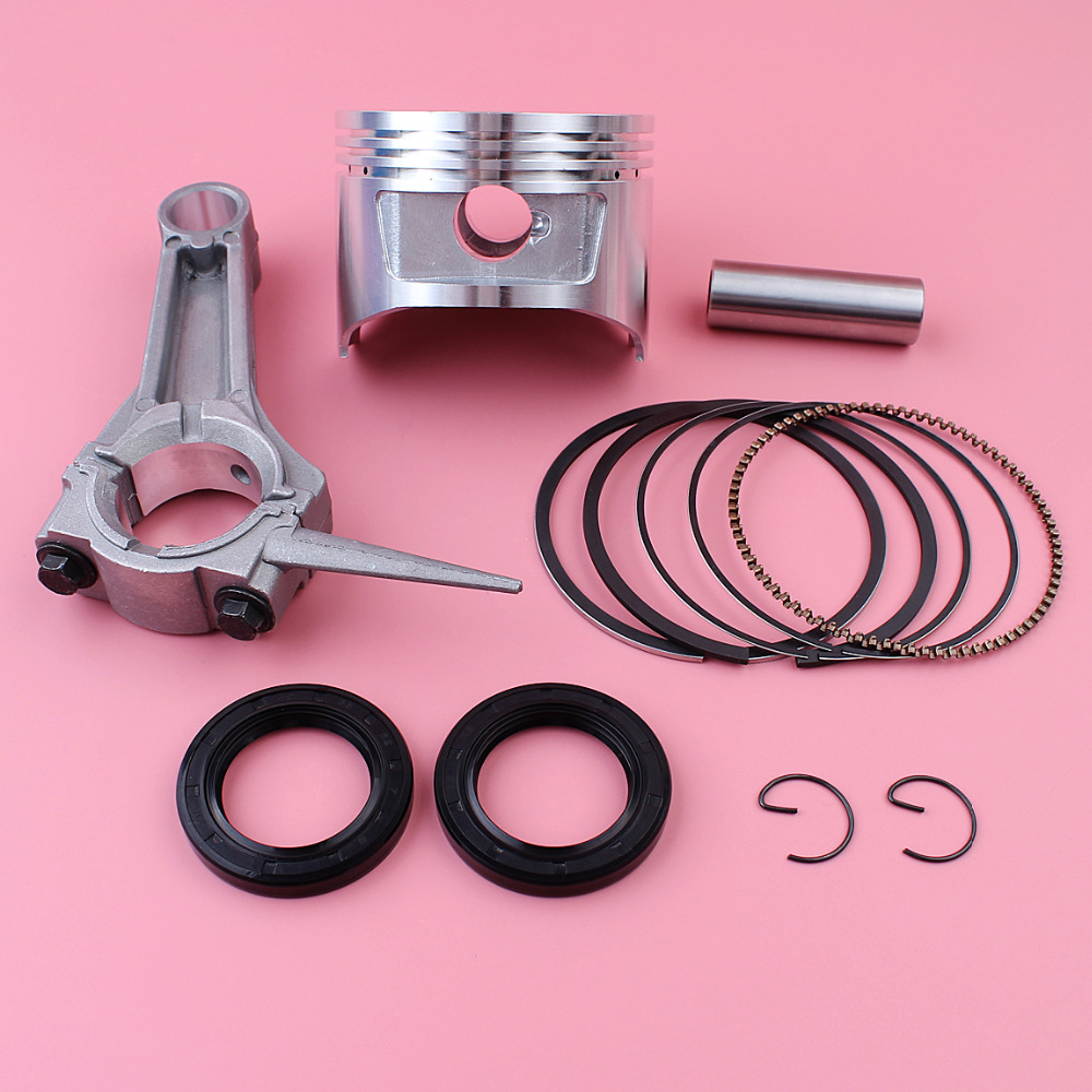 Connecting Rod 88mm Piston Pin Ring Circlip Oil Seal Kit For Honda GX390 13HP GX 390 Engine Motor Part piston set 88mm kit for 4 stroke gx390 188f 13hp gasoline engine free shipping kolben with rings wrist pin